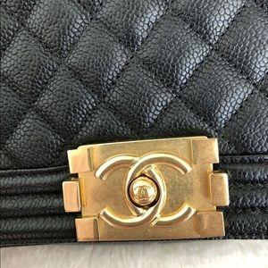 CHANEL Bags - Chanel Le Boy Old Medium GHW Caviar leather 10/10